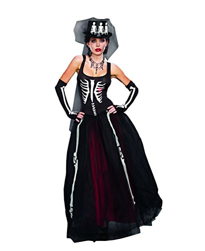 Dreamgirl Women's Ms. Bones Zombie Bride Costume
