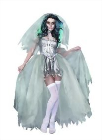 Dreamgirl-Womens-The-Bride-of-Doom-Dead-Zombie-Costume-0