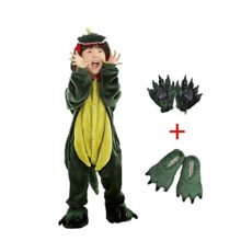 Dreamowl-Kids-Dinosaur-Animal-Costume-Childrens-Plush-Pajamas-attach-shoes-paw-0