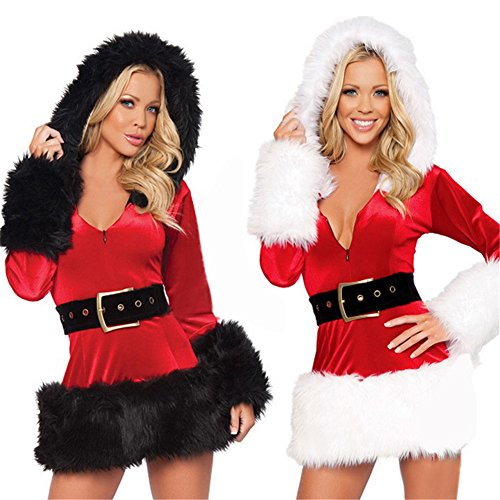 Eshion Women Santa Costume Mrs Claus Cosplay Christmas Party Fancy Dress