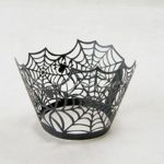 Fashionclubs-Halloween-Party-Spiderweb-Laser-Cut-Paper-Cupcake-Wrappers-Wraps-Liners-Pack-of-24Black-0-1