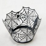Fashionclubs-Halloween-Party-Spiderweb-Laser-Cut-Paper-Cupcake-Wrappers-Wraps-Liners-Pack-of-24Black-0-2