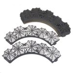 Fashionclubs-Halloween-Party-Spiderweb-Laser-Cut-Paper-Cupcake-Wrappers-Wraps-Liners-Pack-of-24Black-0-5