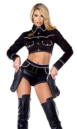 Forplay-Womens-Shoot-Em-Down-Cowgirl-Top-and-Shorts-0