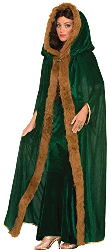 Forum Novelties Women's Medieval Fantasy Faux Fur Trimmed Cape