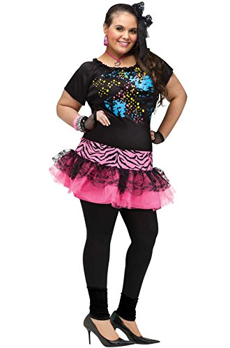 Fun World 80's Pop Party Plus Size Costume-