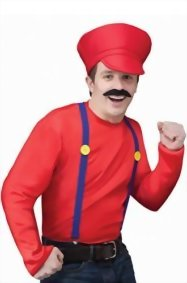Fun-World-Menss-Video-Game-Guy-Kit-Mario-Luigi-Red-Green-Standard-Adult-Costume-0