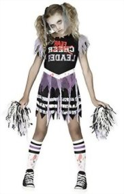 Fun World Zombie Fearleader Costume Cheerleader Costume  sc 1 st  Halloween Costumes Best & Best Zombie Costumes for Girls On Sale Now - Page 3 of 3 - Halloween ...