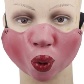 Funny-Half-Face-Silicone-Halloween-Party-Costume-Masks-0-2
