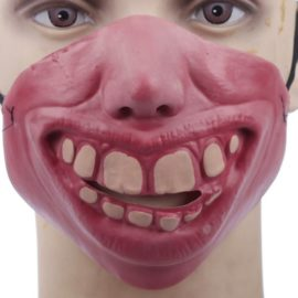 Funny-Half-Face-Silicone-Halloween-Party-Costume-Masks-0-3