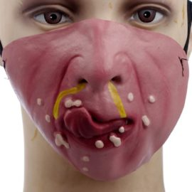 Funny-Half-Face-Silicone-Halloween-Party-Costume-Masks-0-4