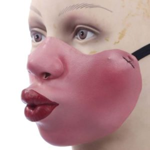 Funny-Half-Face-Silicone-Halloween-Party-Costume-Masks-0-5
