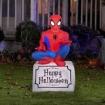 Gemmy-Airblown-Inflatable-Halloween-Spiderman-Sitting-On-Tombstone-Yard-Decoration-35-feet-Tall-0-0
