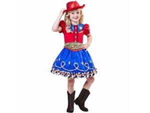 Girls-Cowgirl-Cutie-Halloween-Costume-Includes-Dress-Hat-and-Belt-Size-Small-4-6-0