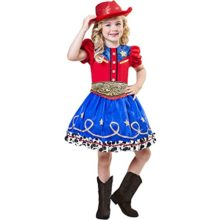 Girls-Goodmark-Cowgirl-Cutie-Dress-Costume-with-Hat-Size-Larg-1012-0