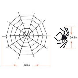 Halloween-Decorations-Hip2cart-10FT-Spider-Web-Decorations-and-Giant-Spider-Decorations-Outdoor-Indoor-0-4