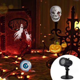 Halloween-DecorationsOutdoor-Christmas-Projector-LightsLED-Rotating-Projection-with-14-Pattern-Lens-Snowflakes-Spotlight-Waterproof-Lights-for-Wedding-Holiday-Birthday-Party-Home-Wall-Decor-Lamp-0