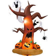 Halloween-Inflatables-8-Tall-Inflatable-Dead-Tree-w-Ghost-on-Top-Pumpkins-on-Bottom-0