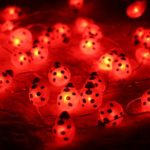 Halloween-String-LightsER-CHENTM-40-LED-Ladybird10Ft-Long-Battery-Operated-Silver-Wire-String-Lights-with-RemoteTimer-for-IndoorCovered-OutdoorHalloween-Parties-Home-Decorations-0-0