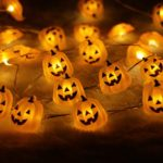 Halloween-String-LightsER-CHENTM-40-LED-Pumpkin10Ft-Long-Battery-Operated-Silver-Wire-String-Lights-with-RemoteTimer-for-IndoorCovered-OutdoorHalloween-Parties-Home-Decorations-0