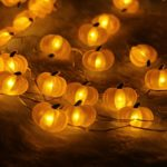 Halloween-String-LightsER-CHENTM-40-LED-Pumpkin10Ft-Long-Battery-Operated-Silver-Wire-String-Lights-with-RemoteTimer-for-IndoorCovered-OutdoorHalloween-Parties-Home-Decorations-0-2