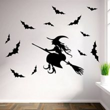 Halloween-Witch-Wall-Art-Door-Stairs-Living-Room-Bedroom-Decor-Teenager-Kids-Children-Decal-Wall-Sticker-Murals-Wallpaper-Poster-0