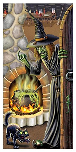 Halloween Witchs Brew Door Cover 30in X 5ft Party Accessory