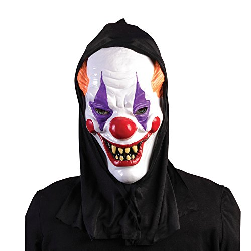 hooded scary clown mask 0