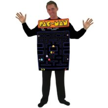 Incogneato-Unisex-Pac-Man-Video-Game-Screen-Poncho-Adult-Costume-One-Size-Black-0