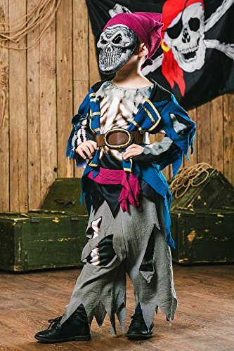 Kids-Boys-Skeleton-Pirate-Costume-Flying-Dutchman-Ghost-Ship-Dress -Up-Role-Play-0-1 & Kids-Boys-Skeleton-Pirate-Costume-Flying-Dutchman-Ghost-Ship-Dress ...