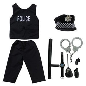 Kids-Police-Officer-Costume-fedio-9-Pieces-Policeman-Role-Play-Dress-up-Set-for-ChildrensAges-3-5-0