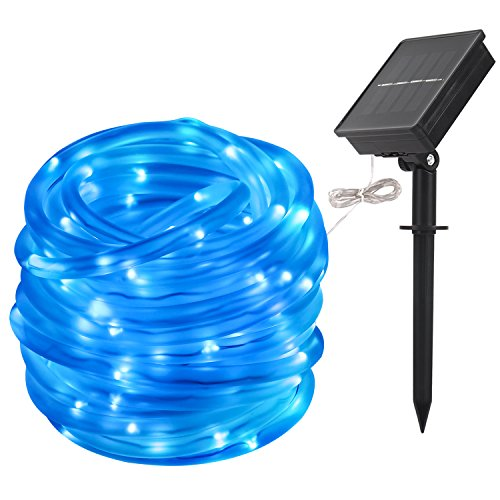 LTE-Solar-Powed-RGB-100-LED-Rope-Lights-Outdoor-Waterproof-Light-Sensor-33ft-8-Lighting-Modes-Ideal-for-DecorationsChristmasThanksgiving-Garden-Lawn-Patio-Wedding-Party-0