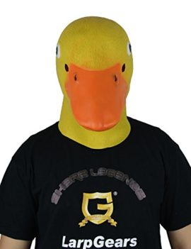 LarpGears-Deluxe-Novelty-Halloween-Latex-Duck-Mask-Adult-Size-Yellow-and-Blue-0-3