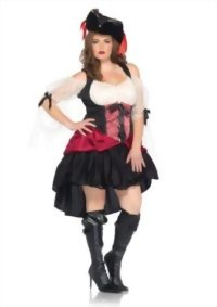 Leg-Avenue-Plus-Size-Plus-Size-Wicked-Wench-Peasant-Dress-with-Lace-Sleeves-0
