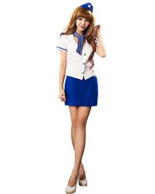 Lingeriecats-Sexy-Saphire-Skye-Air-hostess-Outfit-Costume-Set-Free-Sport-Pant-0