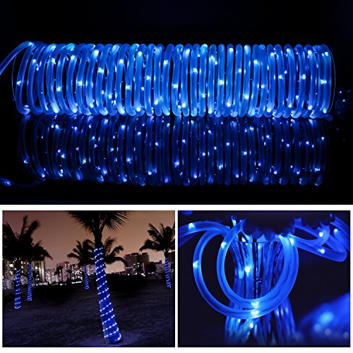 MEIKEE-33ft-Dimmable-Solar-Rope-LightsHalloween-Decoration-Light-100-LED-8-Lighting-Modes-Light-Sensor-Waterproof-Ideal-for-Decorations-ChristmasGardens-Lawn-Patio-Weddings-PartiesBlue-0-4