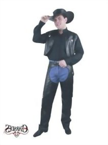 Mens-Black-Leather-Chaps-and-Vest-0