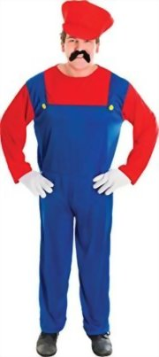Mens-Fancy-Party-Dress-80s-Video-Game-Super-Mario-Bros-Plumbers-Mate-Costume-0