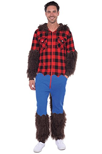 mens werewolf halloween costume warewolf jumpsuit for men