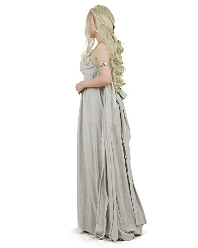 Miccostumes-Womens-A-Song-of-Ice-And-Fire-Daenerys-Targaryen-Cosplay-Grey-Long-Dress-0-0