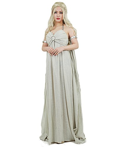 Miccostumes-Womens-A-Song-of-Ice-And-Fire-Daenerys-Targaryen-Cosplay-Grey-Long-Dress-0