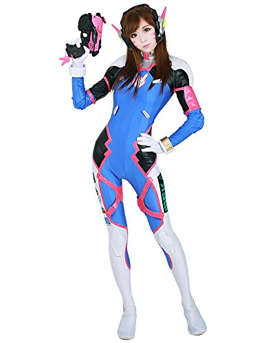 Miccostumes Women's D.Va Hana Song Cosplay Costume