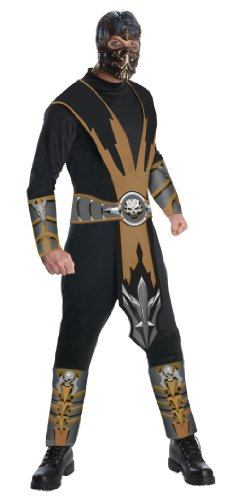 Mortal Kombat Adult Scorpion Costume And Mask