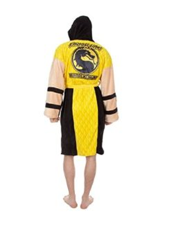 Mortal-Kombat-Mens-Scorpion-Hooded-Plush-Robe-Yellow-One-Size-0-1