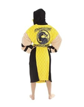 Mortal-Kombat-Mens-Scorpion-Hooded-Plush-Robe-Yellow-One-Size-0-2