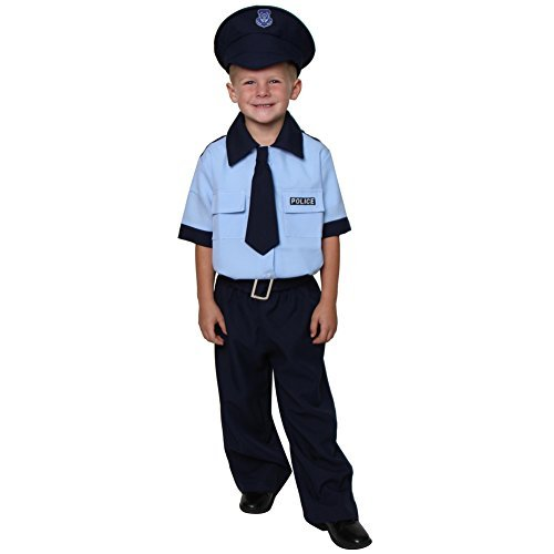 Navy Deluxe Policeman Costume (Choose Size)