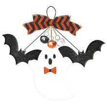 New-Age-Scare-Halloween-Party-Bats-Ghost-and-Bells-Hanging-Sign-Decoration-Board-13-x-15-0