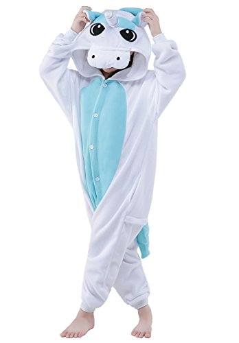Newcosplay Unisex Children Unicorn Pyjamas Halloween Costume