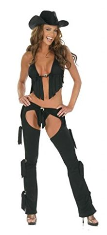 Nom-de-Plume-Womens-Sexy-Lycra-3PC-Cowgirl-Chaps-Costume-With-Hat-0