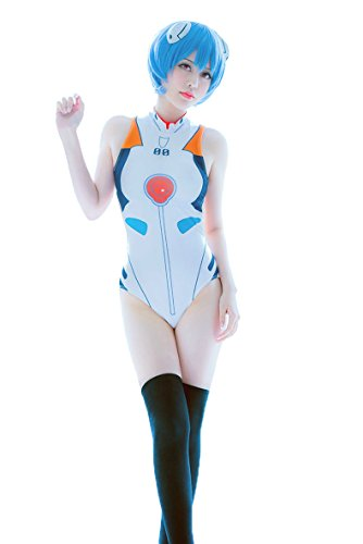 Nuoqi Anime Cosplay EVA Ayanami Rei Asuka Swimwear One-Piece Suits Costumes